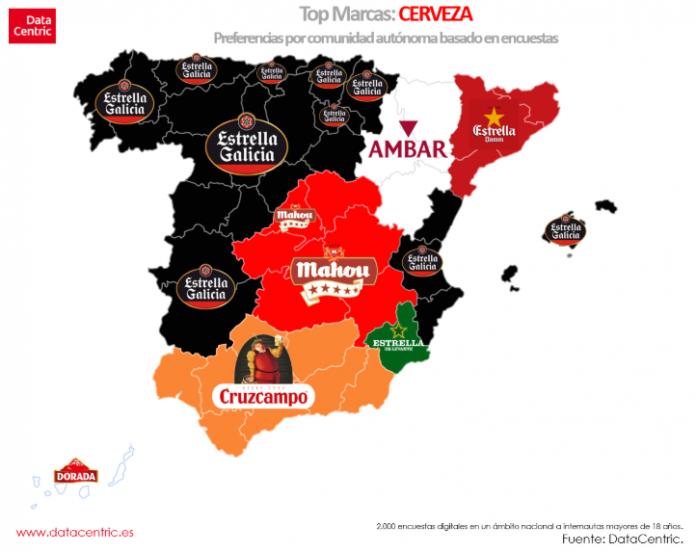 marcas de cerveza favoritas por comunidades